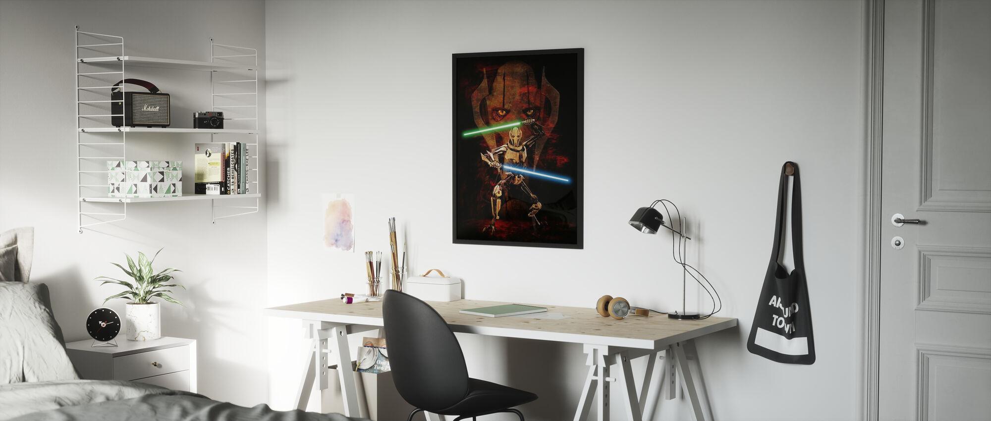 Tähtien sota - Klooni Sotilaan kapteeni Rex 1 - Kehystetty kuva - Lastenhuone
