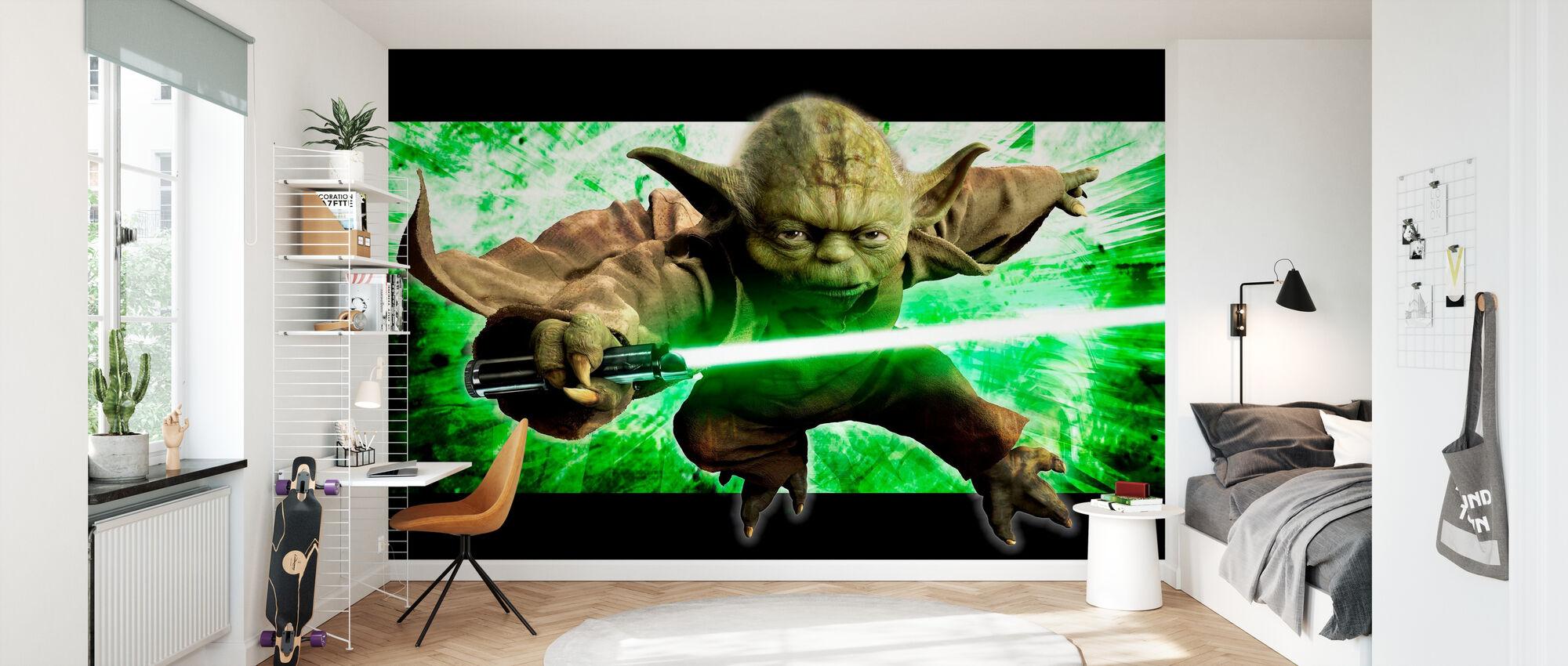 Star Wars - Yoda i aksjon - Tapet - Barnerom