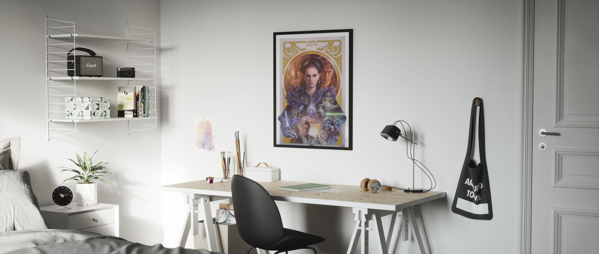 Tähtien sota - Padme Amidala taidetta - Kehystetty kuva - Lastenhuone