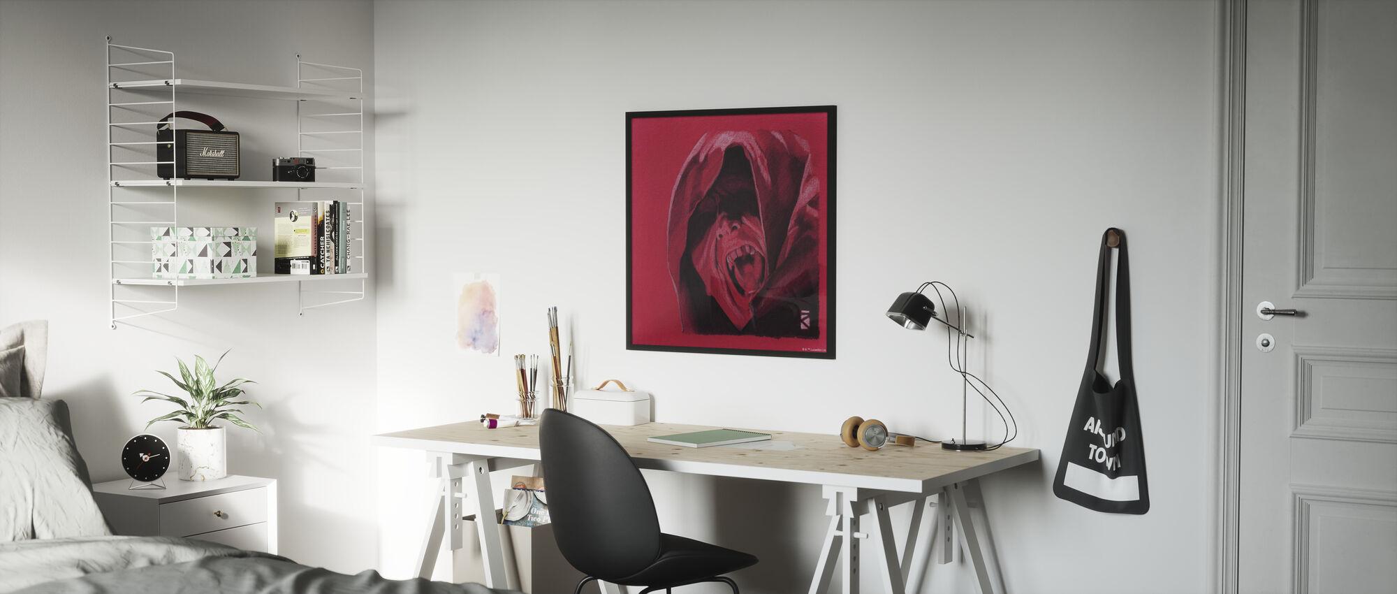 Tähtien sota - Palpatine punainen grafiitti - Kehystetty kuva - Lastenhuone