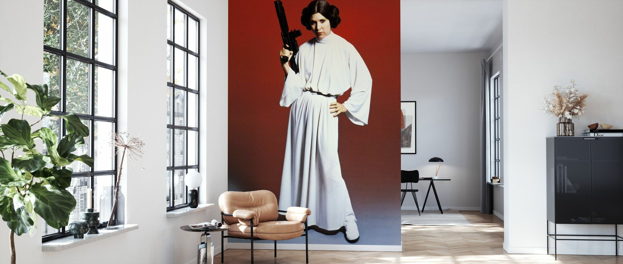 Star Wars - Prinsesse Leia våben - Tapet - Stue