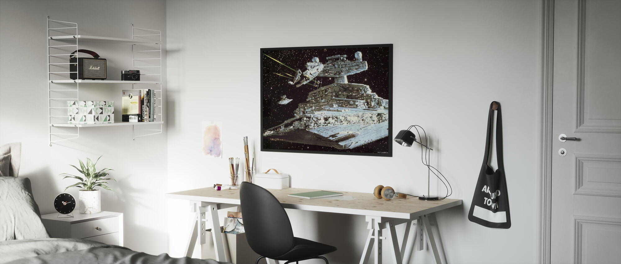 Star Wars - Millennium Falcon angrep - Innrammet bilde - Barnerom