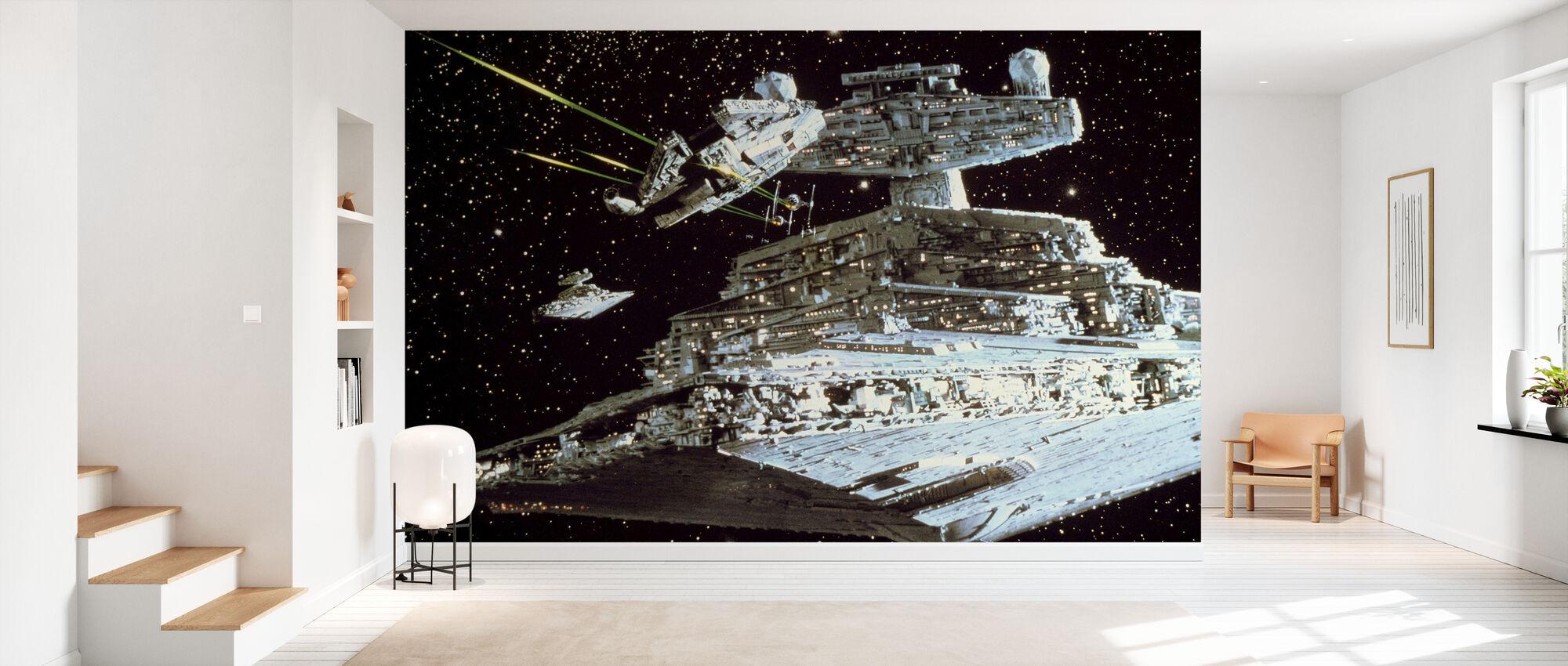 Star Wars - Millennium Falcon Attack - Tapet - Hall