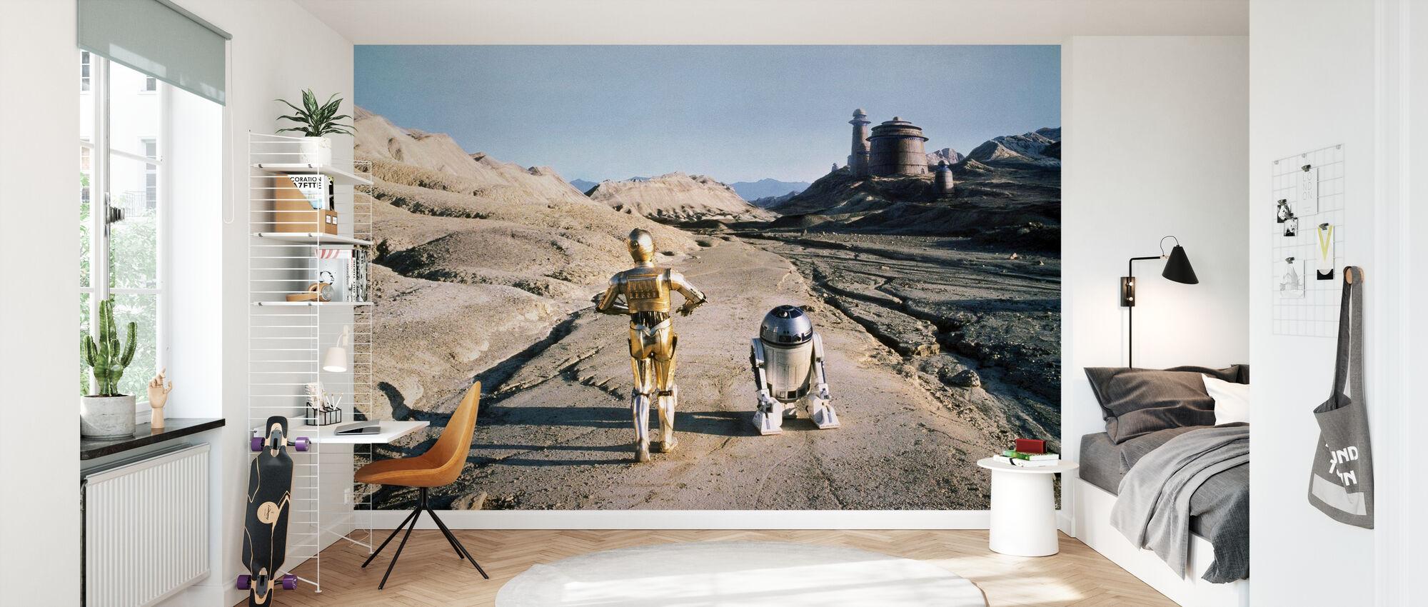 Star Wars - R2-D2 och C-3PO Tatooine - Tapet - Barnrum