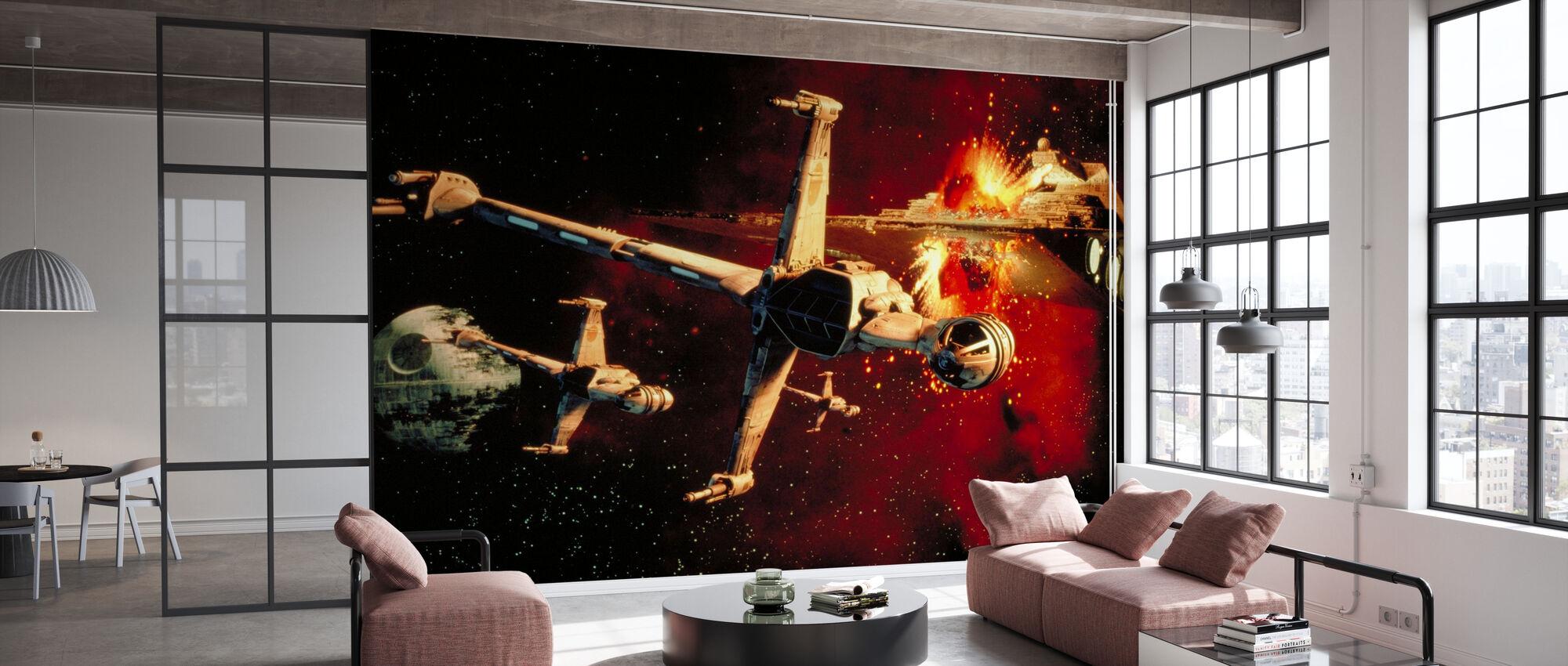 Star Wars - B-vinge Fighters - Tapet - Kontor