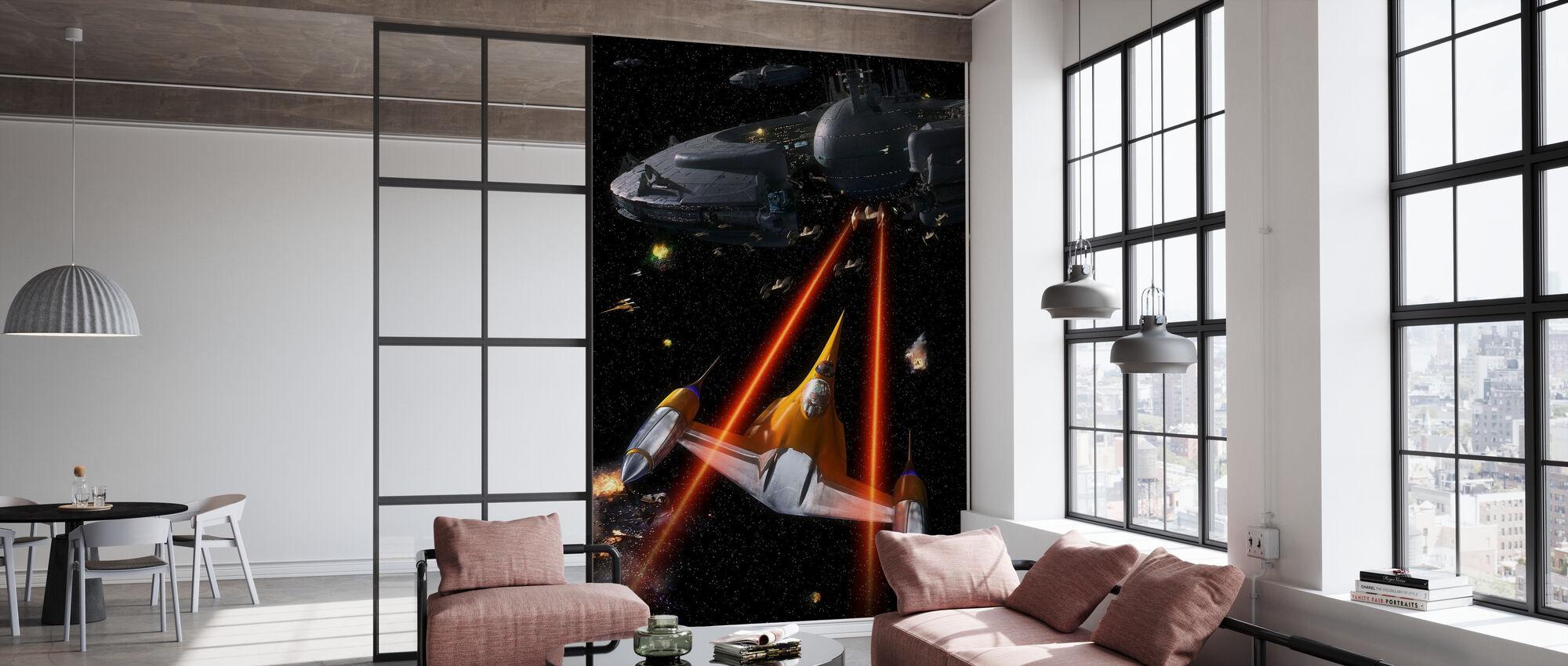 Star Wars - Naboo Starfighters - Tapet - Kontor