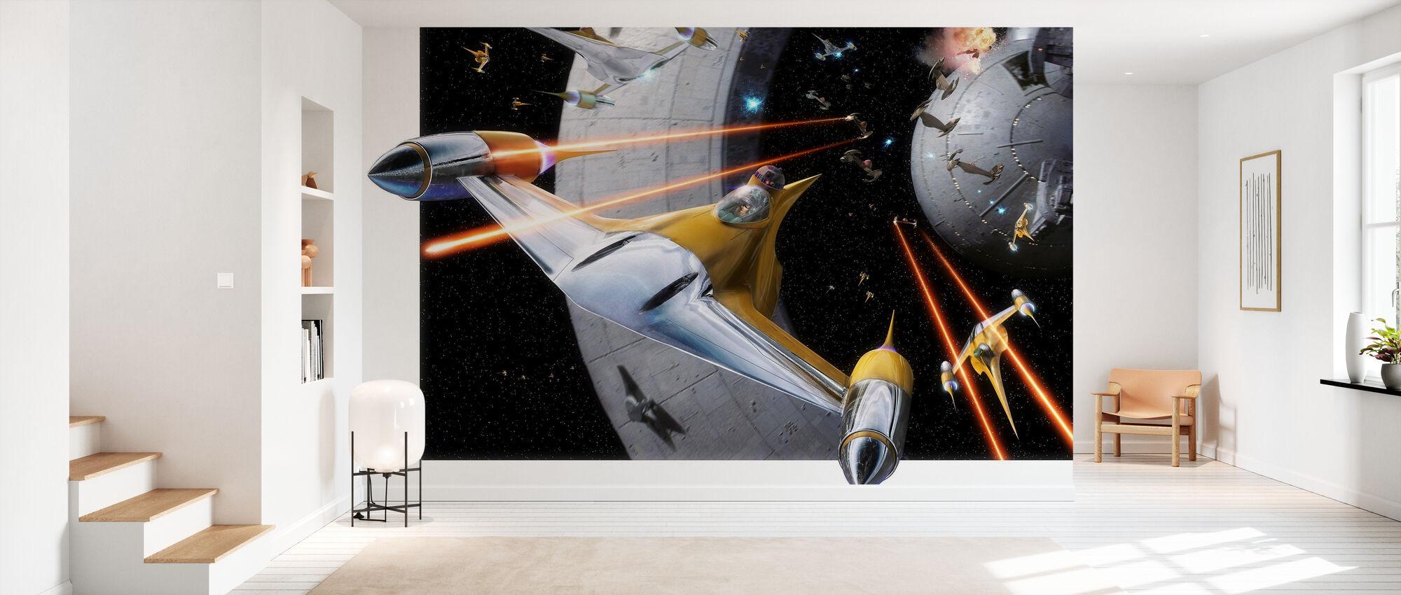 Stjärnornas krig - Anakin i Naboo Starfighter - Tapet - Hall