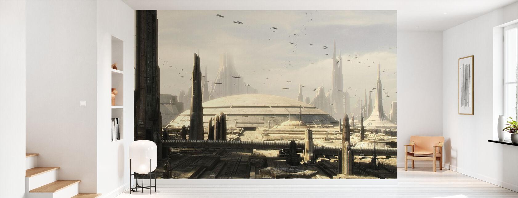 Stjärnornas krig - Koruscant Byggnader 1 - Tapet - Hall