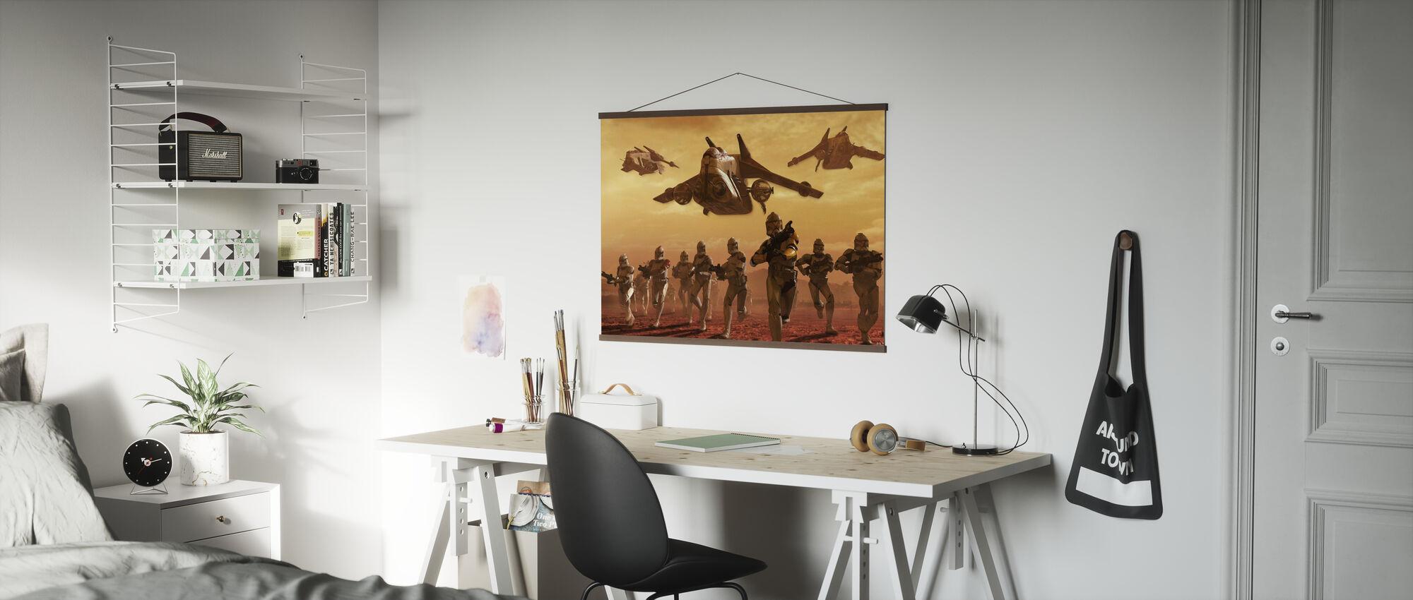 Star Wars - Klon Troopers på Geonosis - Poster - Kontor