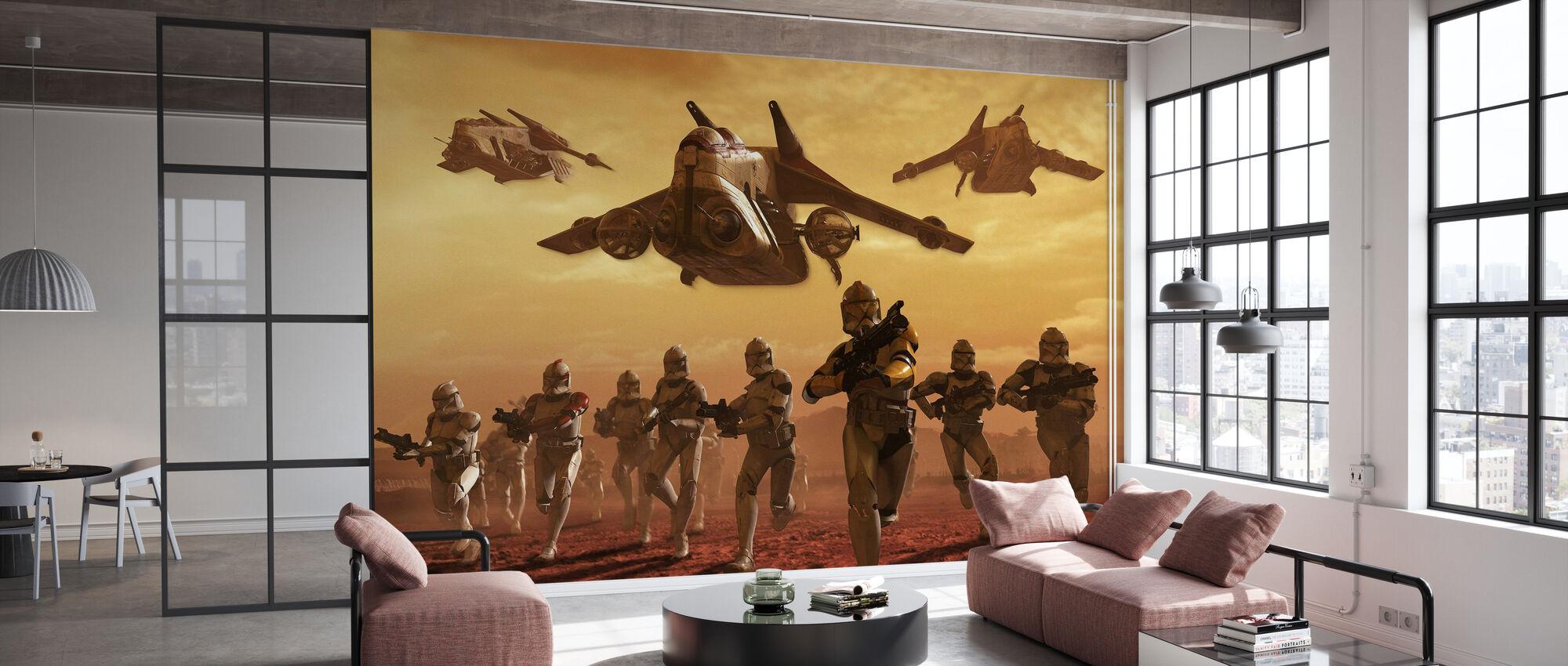 Star Wars - Klon Troopers på Geonosis - Tapet - Kontor