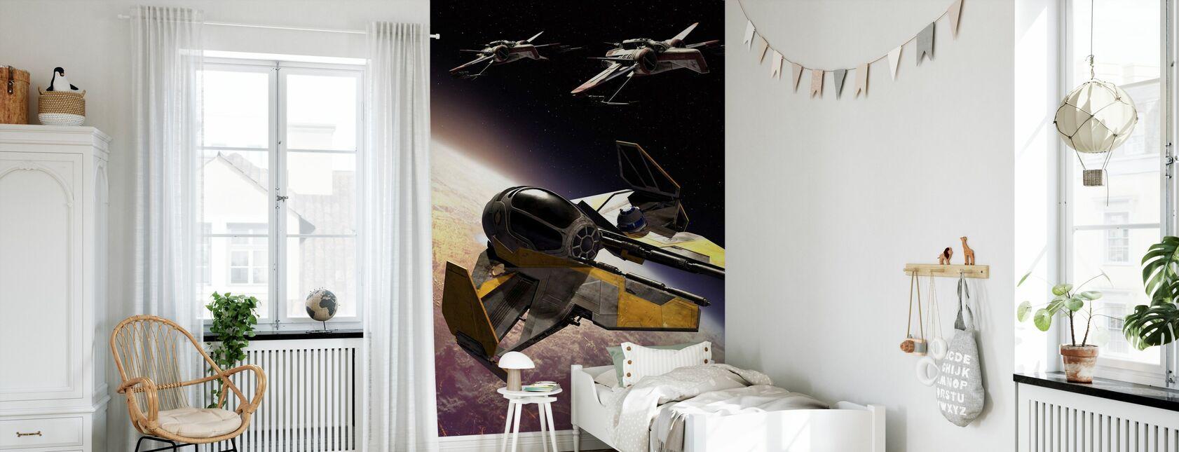 Star Wars - ARC-170 klon Starfighters - Tapet - Børneværelse