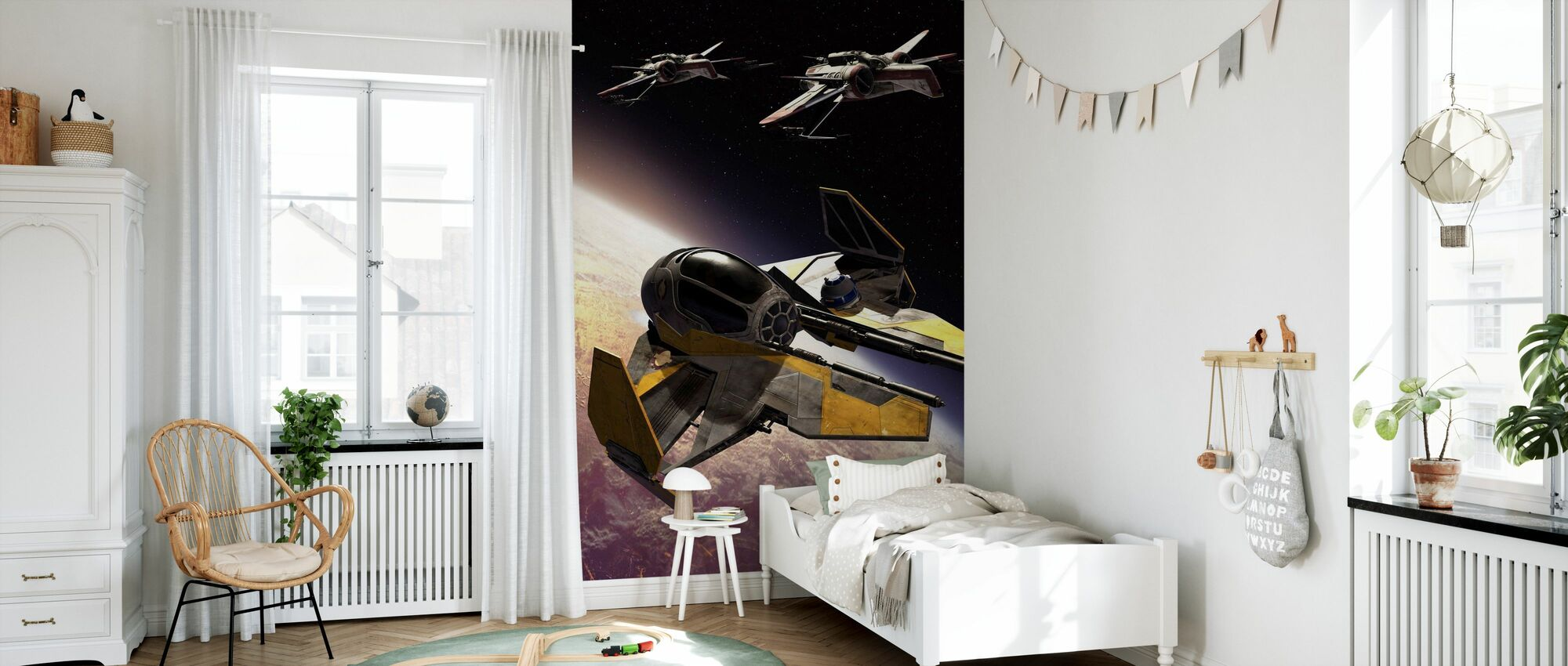 Star Wars - ARC-170 Klon Starfighters - Tapet - Barnrum