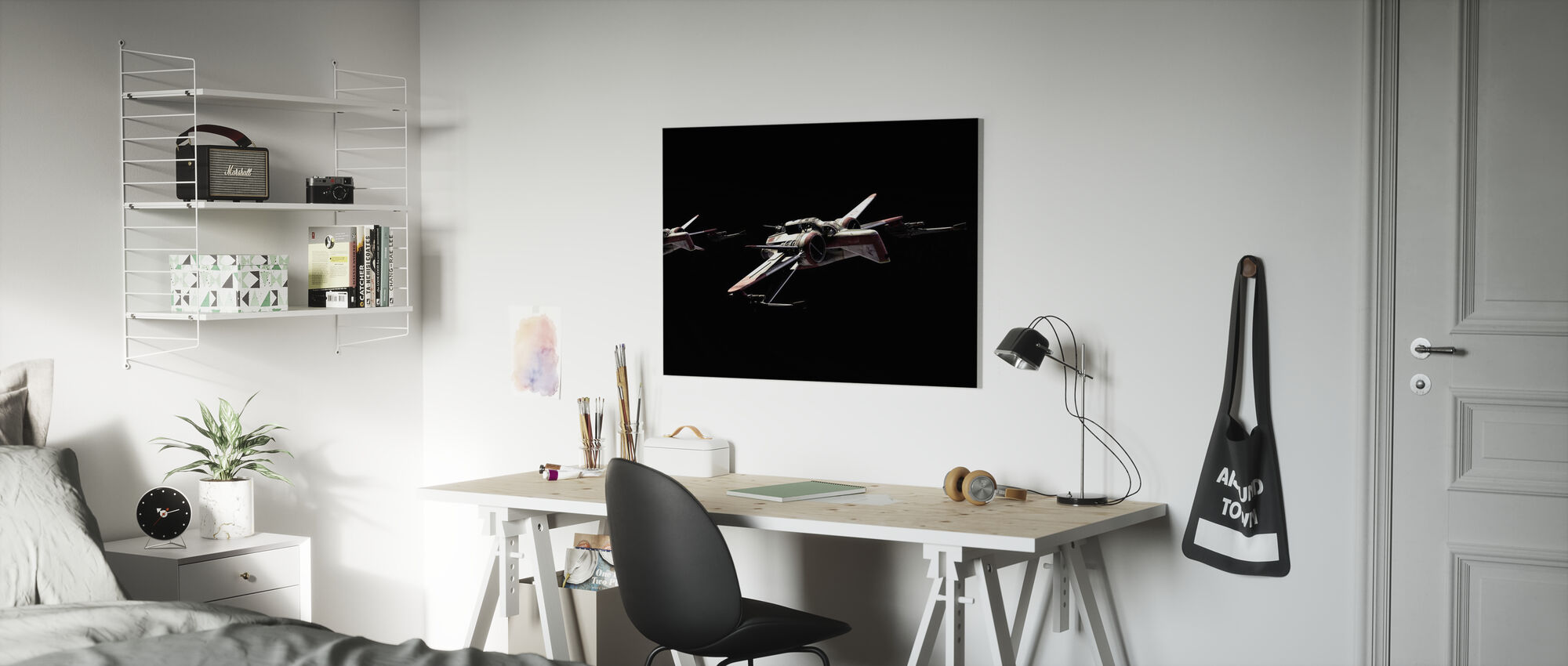 Star Wars - Starfighters natt - Lerretsbilde - Barnerom
