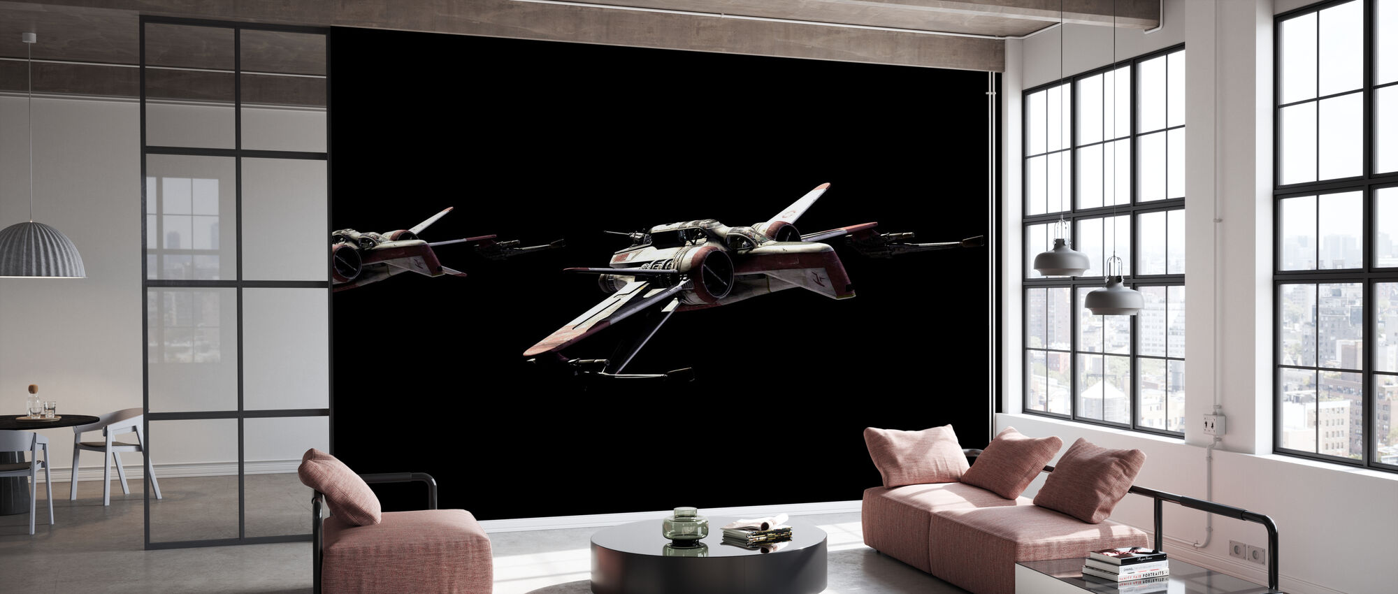 Star Wars - Starfighters Natt - Tapet - Kontor