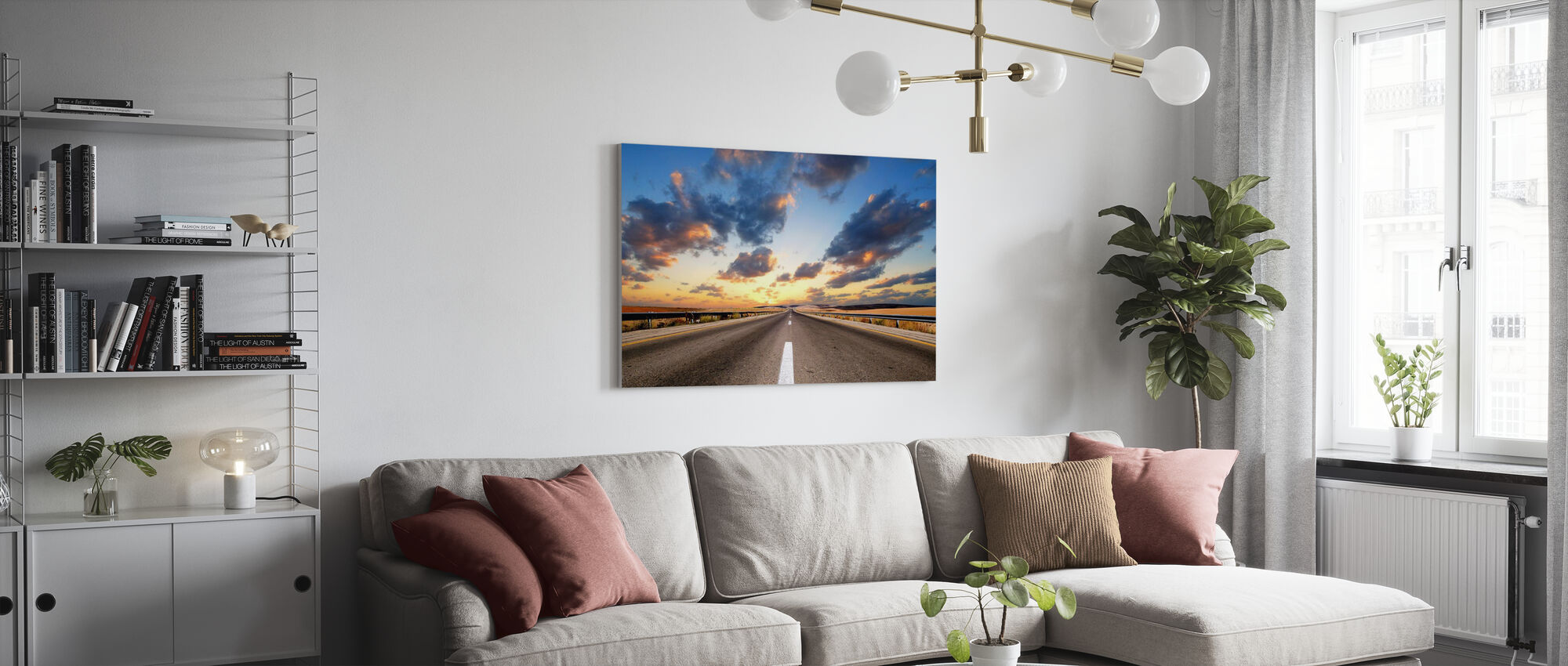 Road under Dramatic Sky - Canvas print - Living Room