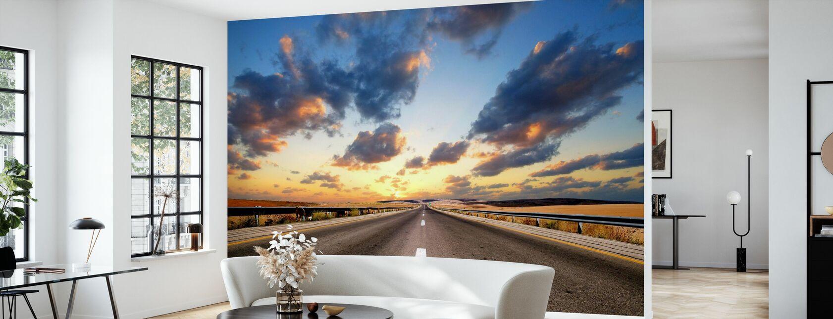 Road under Dramatic Sky - Wallpaper - Living Room
