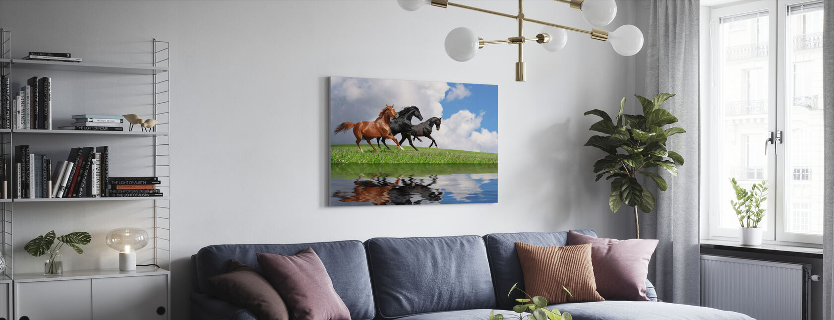 Gallop Horses - Canvas print - Living Room