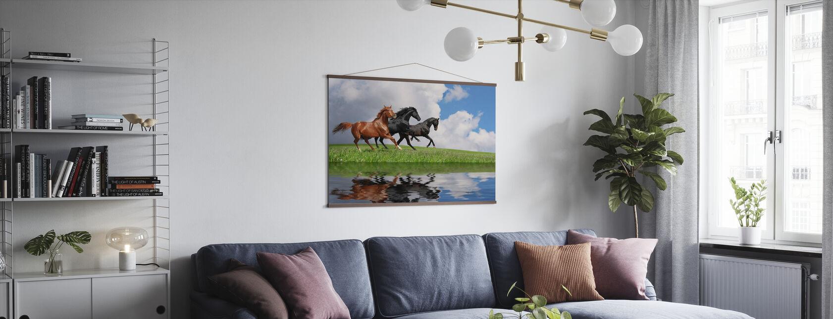 Cavalli al galoppo - Poster - Salotto