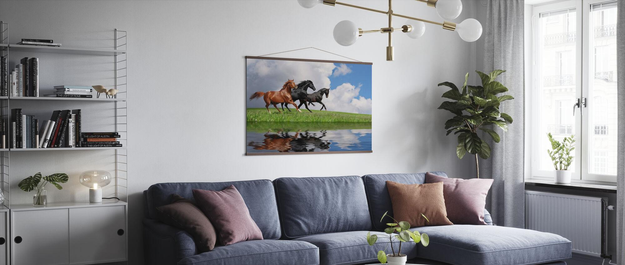 Galoppferde - Poster - Wohnzimmer