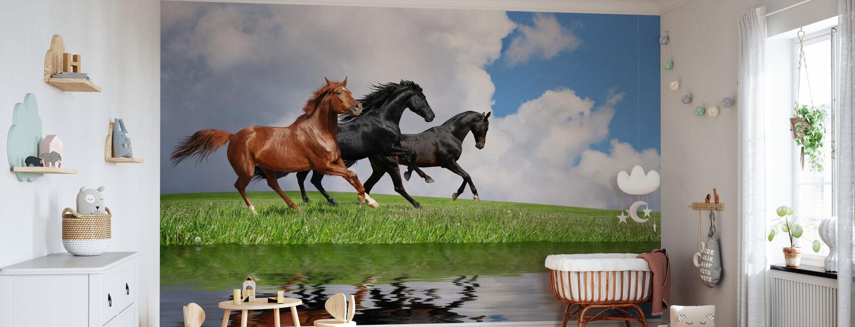 Gallop Horses - Wallpaper - Nursery