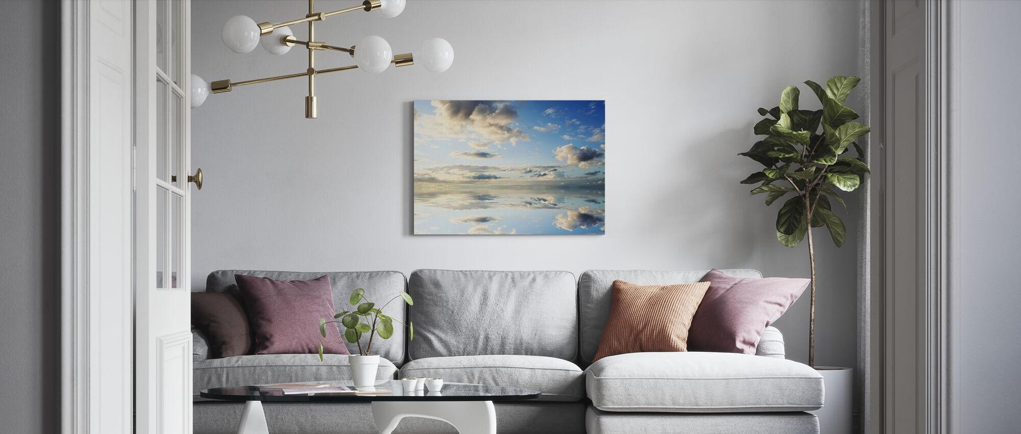 Zee en mooie hemel - Canvas print - Woonkamer