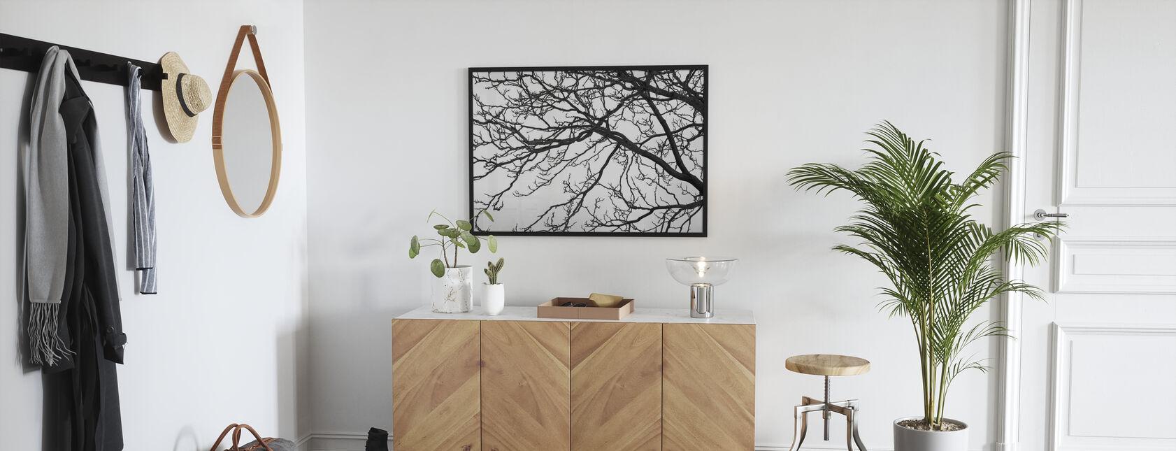 Albero bianco e nero - Stampa incorniciata - Sala