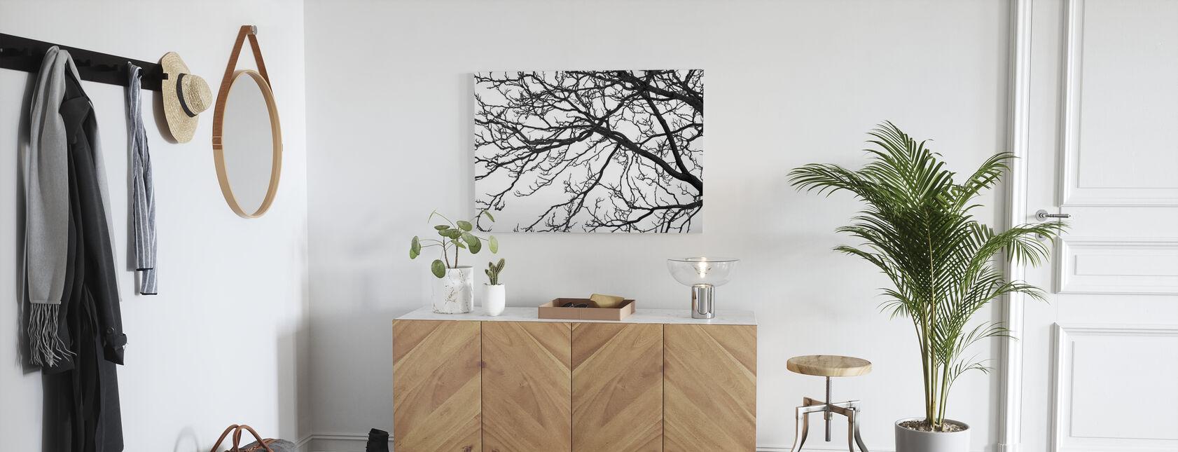 Arbre noir et blanc - Impression sur toile - Entrée