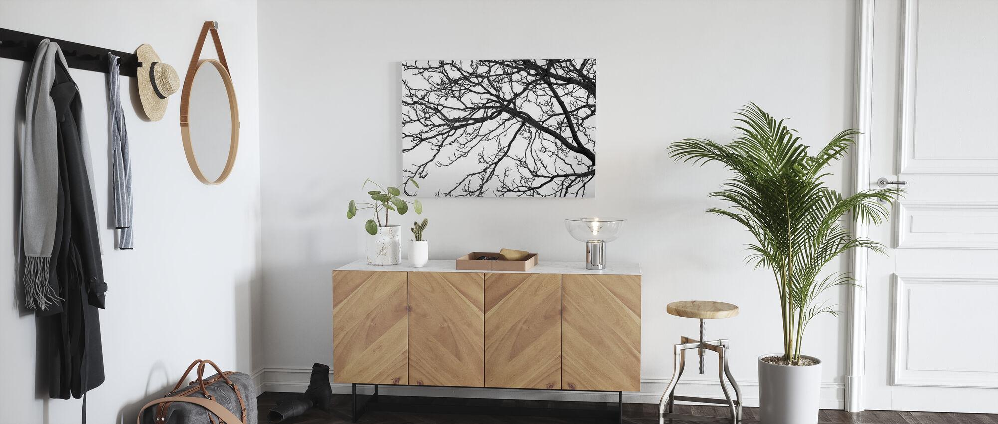 Zwarte en witte boom - Canvas print - Gang
