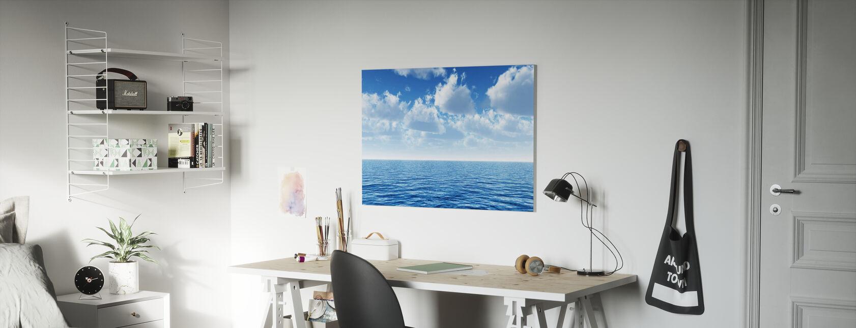 Cloudy Blue Sky Horizon - Canvas print - Kids Room