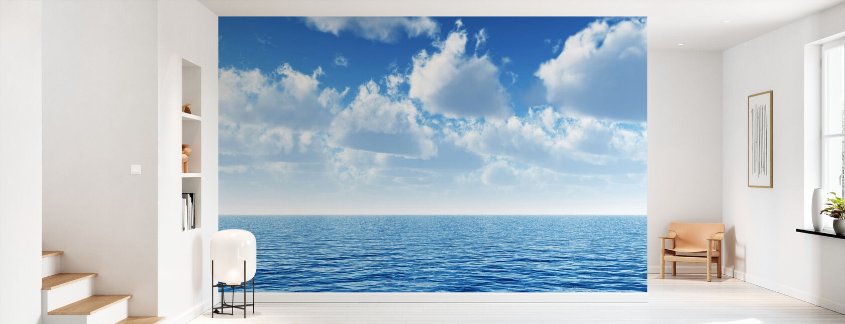 Cloudy Blue Sky Horizon - Wallpaper - Hallway