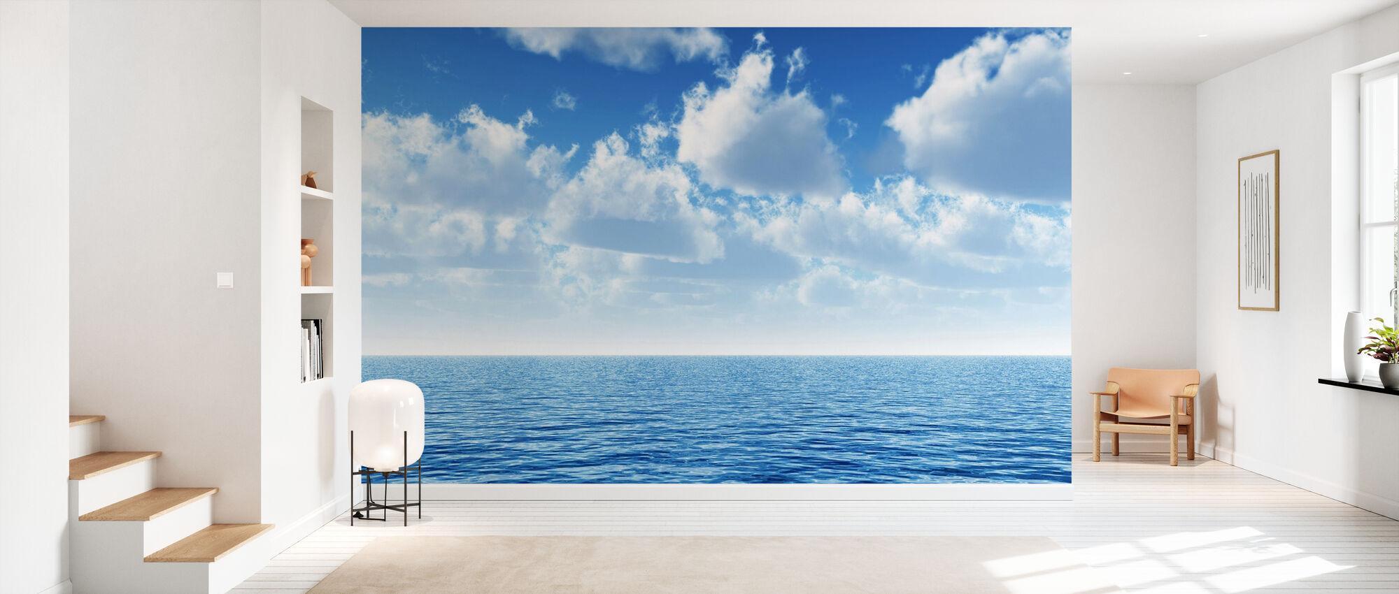 Molnigt blå himmel Horizon - Tapet - Hall