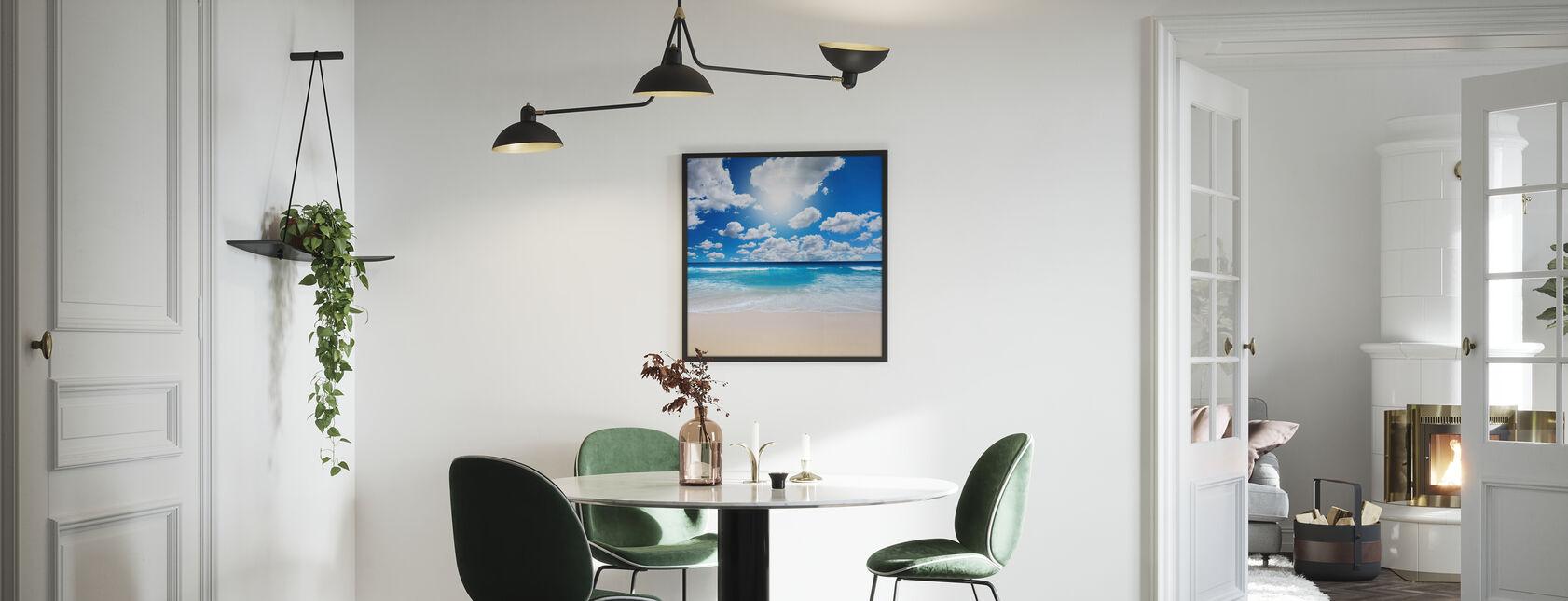 Estate in spiaggia - Stampa incorniciata - Cucina