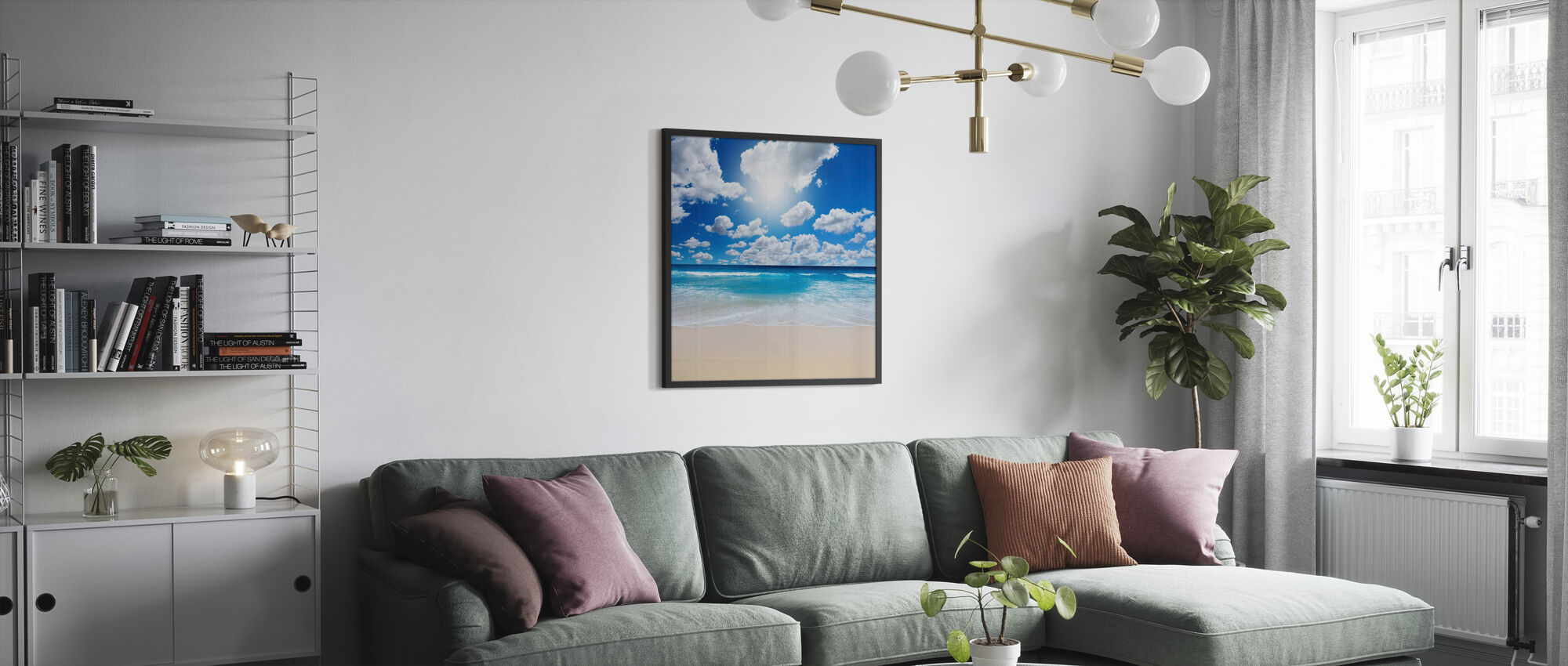 Summertime at the Beach - Framed print - Living Room