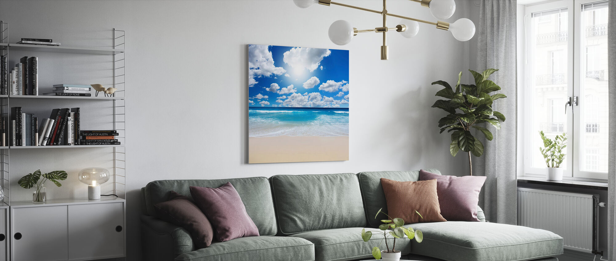Summertime at the Beach - Canvas print - Living Room