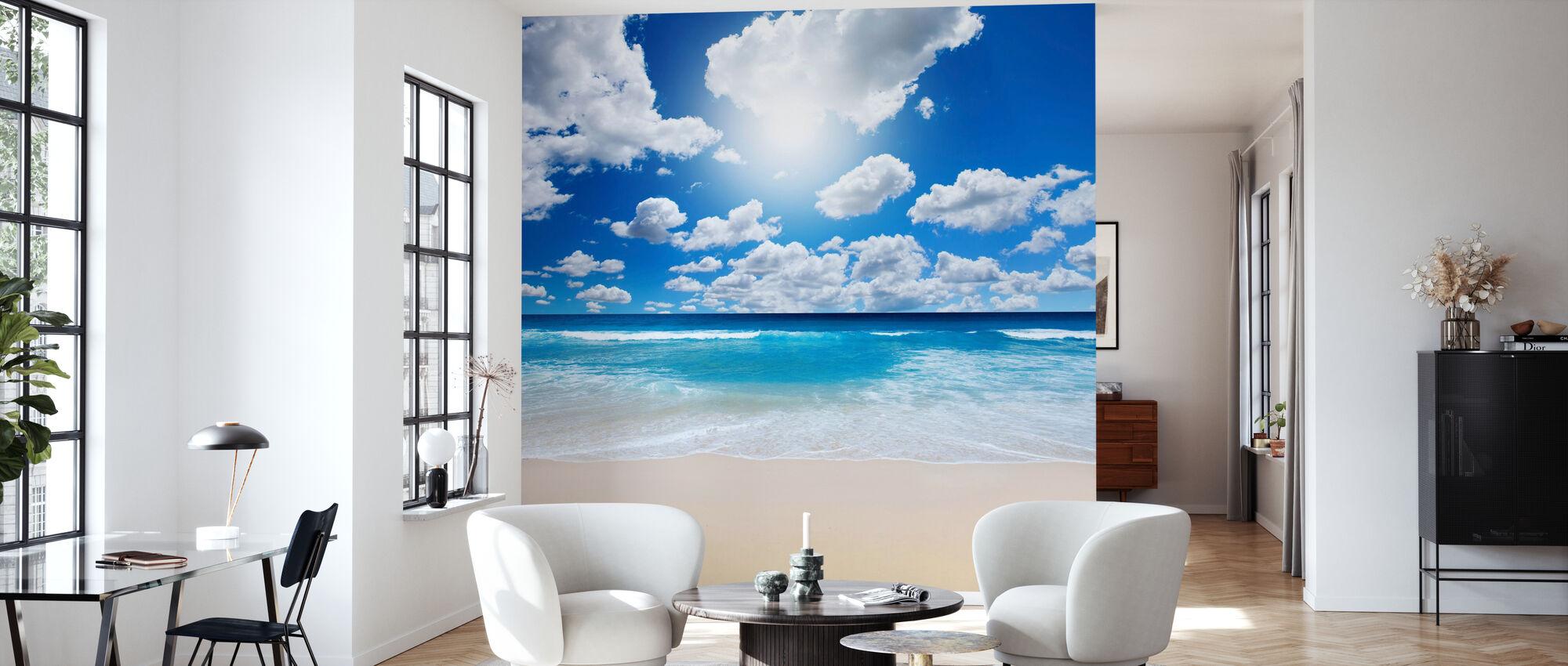 L'été à la plage - Papier peint - Salle à manger