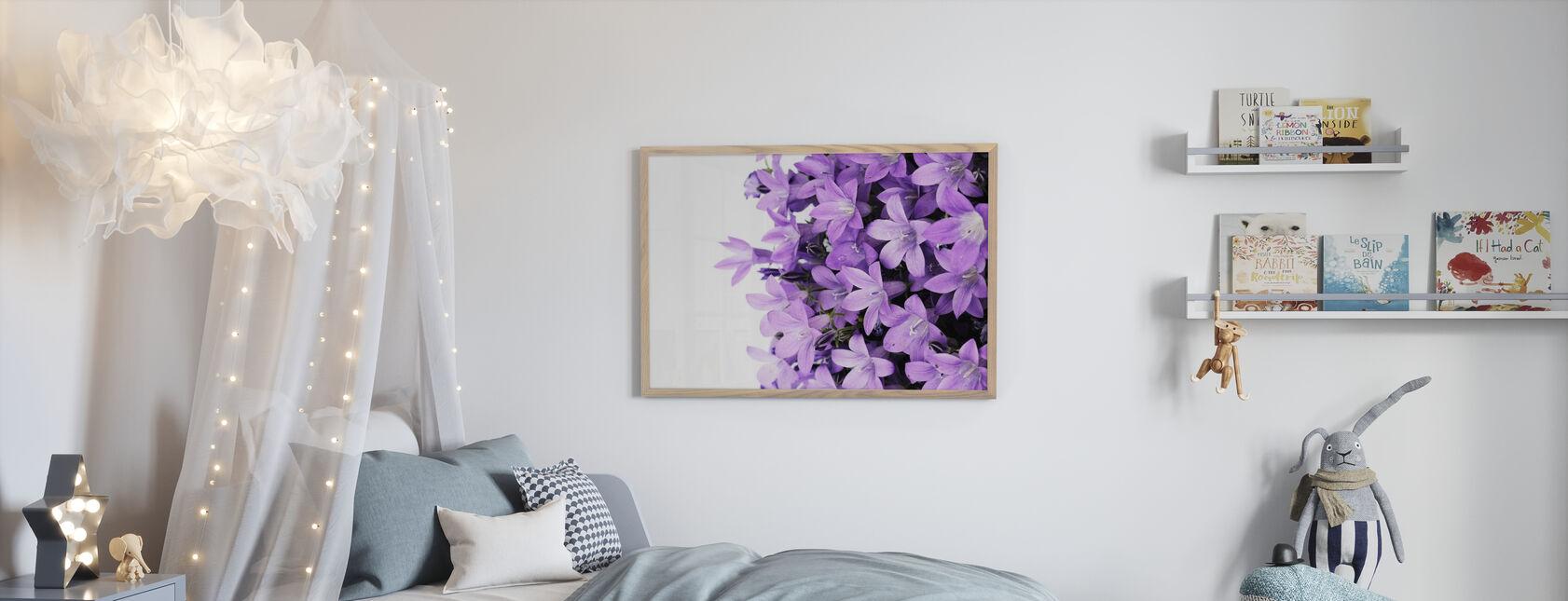 Fleurs violettes - Affiche - Chambre des enfants