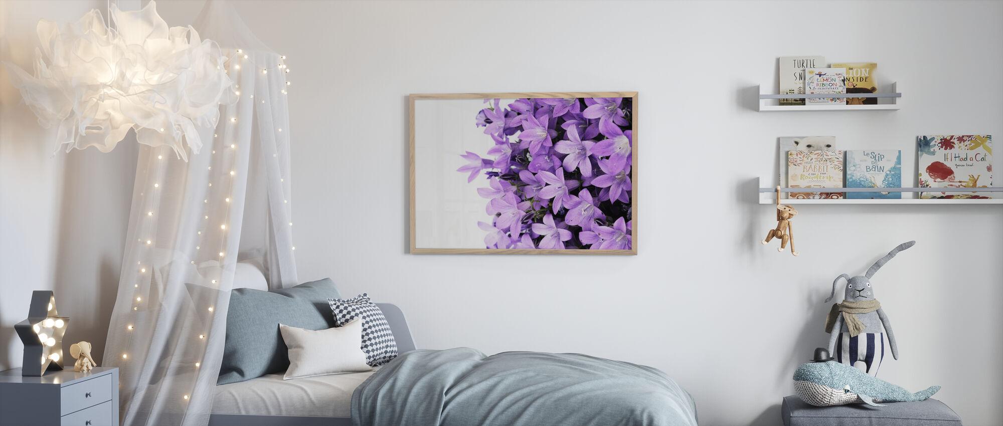 Purple Flowers - Poster - Kids Room