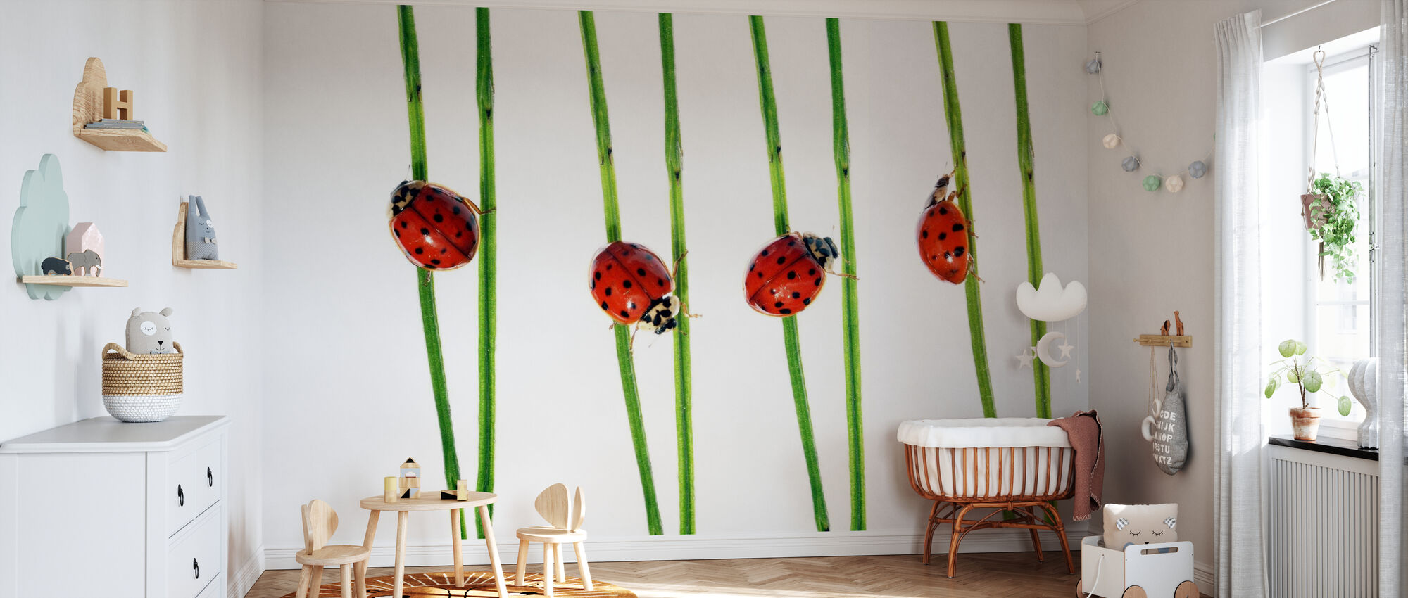 Collection of Lady Bugs - Wallpaper - Nursery