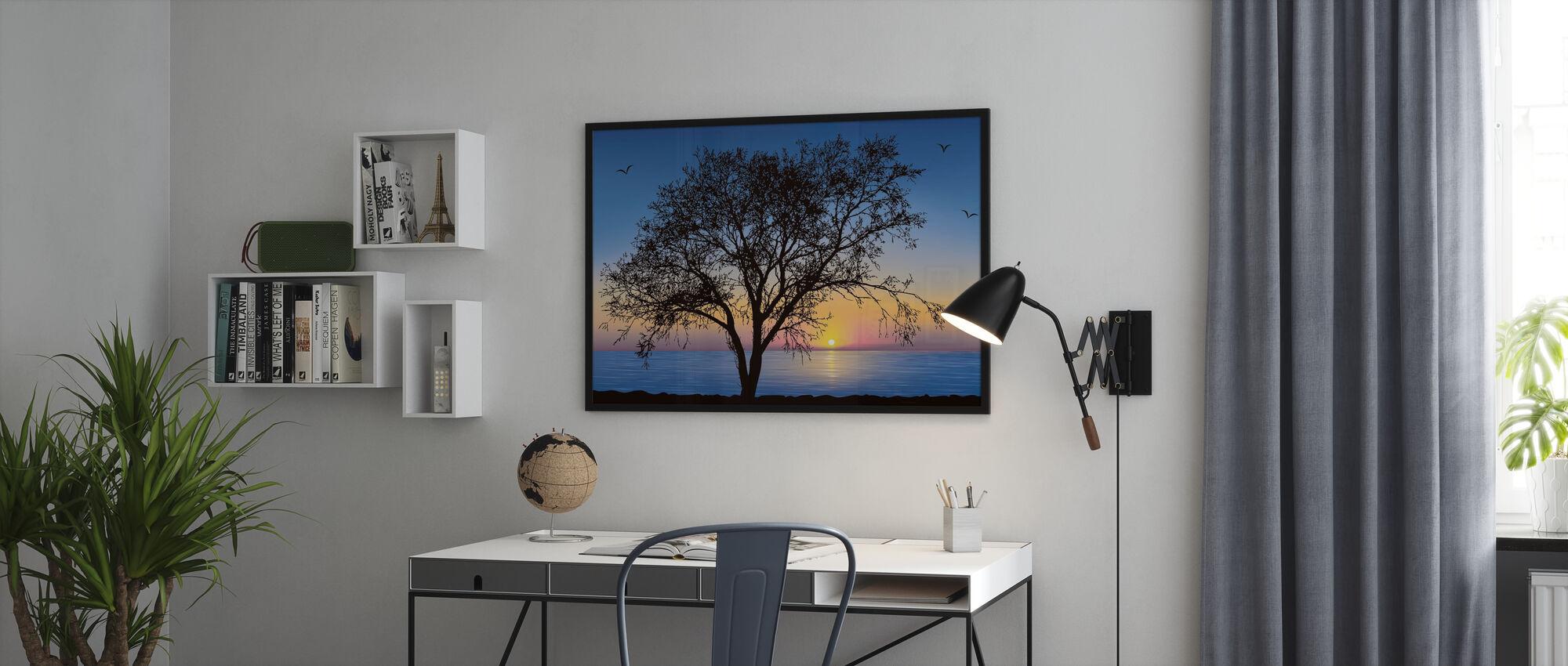 Tree Silhouette - Framed print - Office