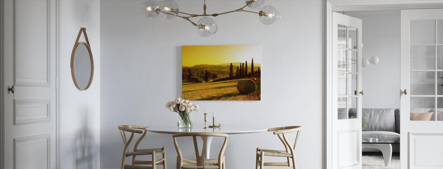 Coucher de soleil paysage toscan - Impression sur toile - Cuisine