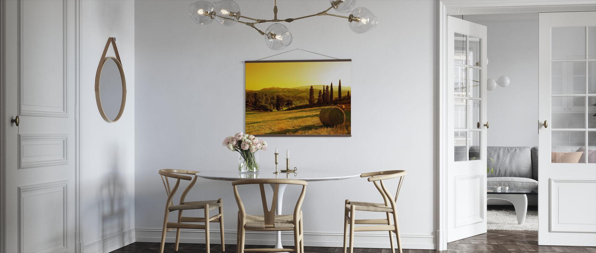 Coucher de soleil paysage toscan - Affiche - Cuisine