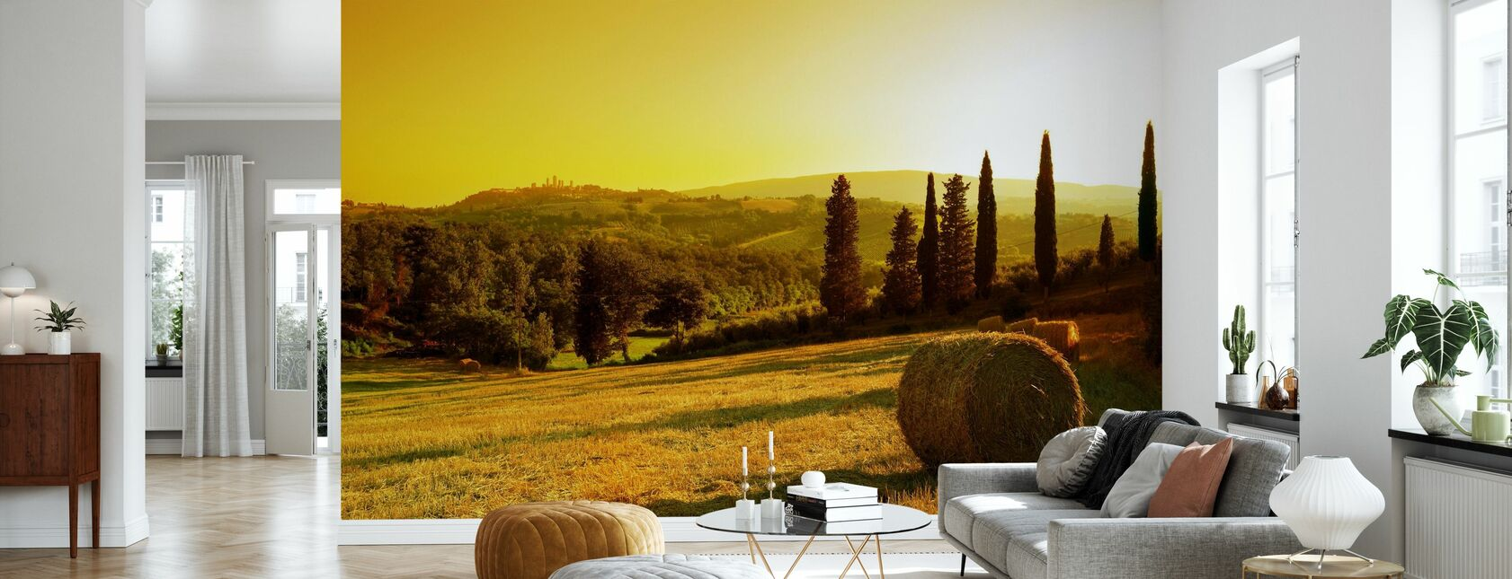 Sunset Tuscany Landscape - Wallpaper - Living Room