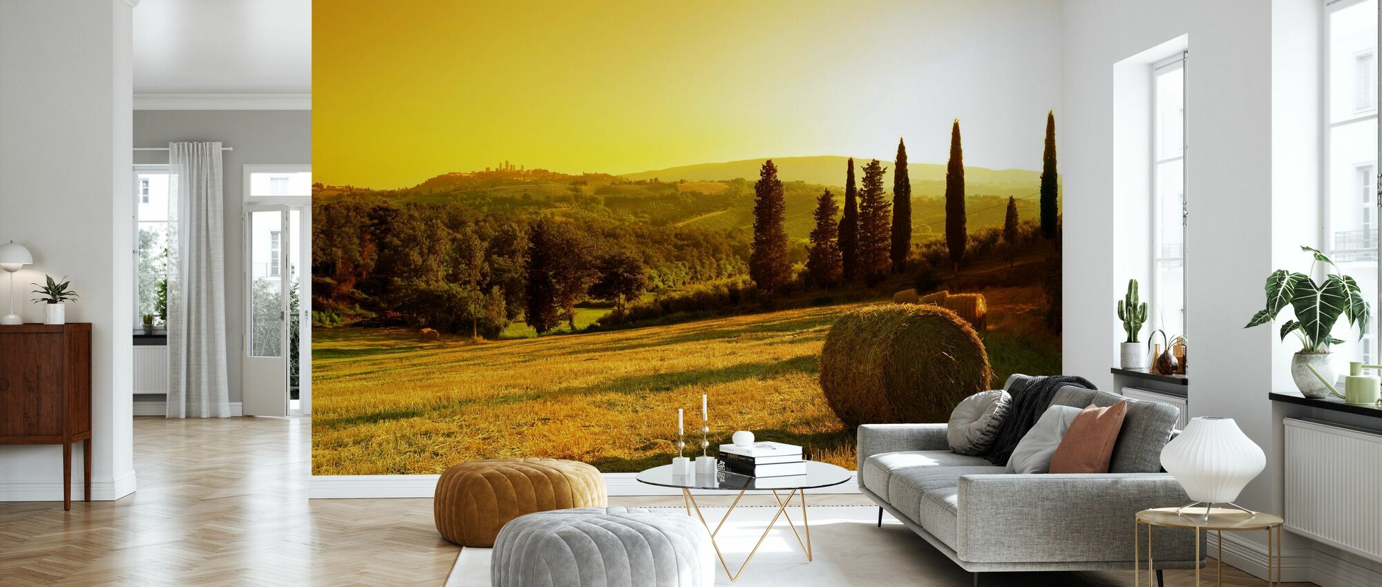 Sunset Tuscany Landscape - Wallpaper - Living Room
