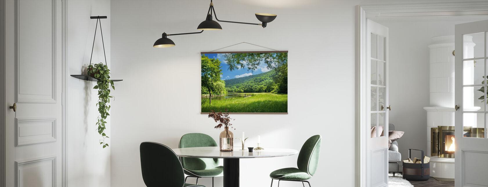 Paesaggio estivo con fiume - Poster - Cucina
