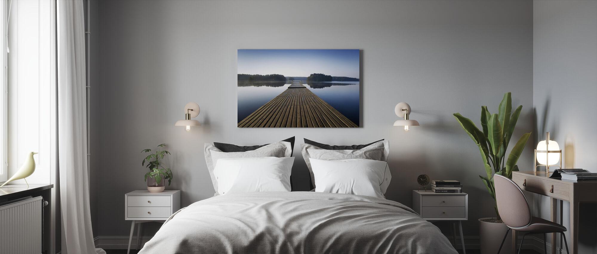 Pier en bois au matin - Impression sur toile - Chambre