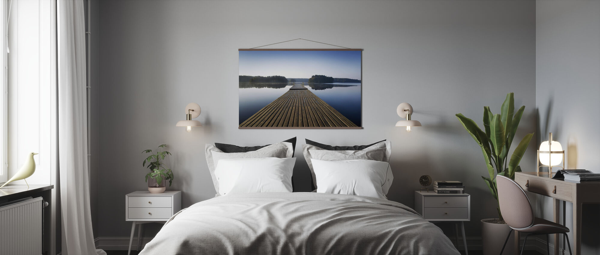 Wooden Pier at Morning - Poster - Bedroom