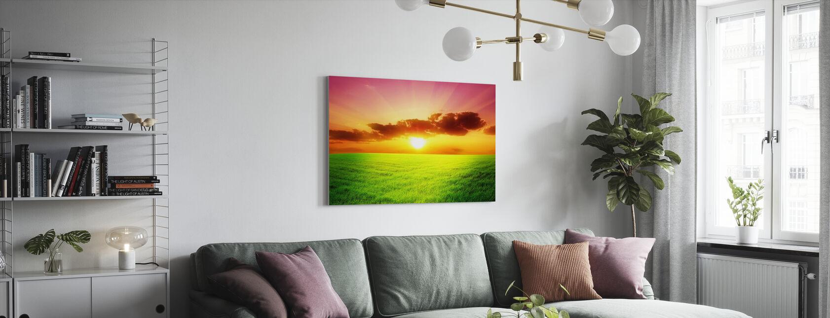 Groen veld - Canvas print - Woonkamer