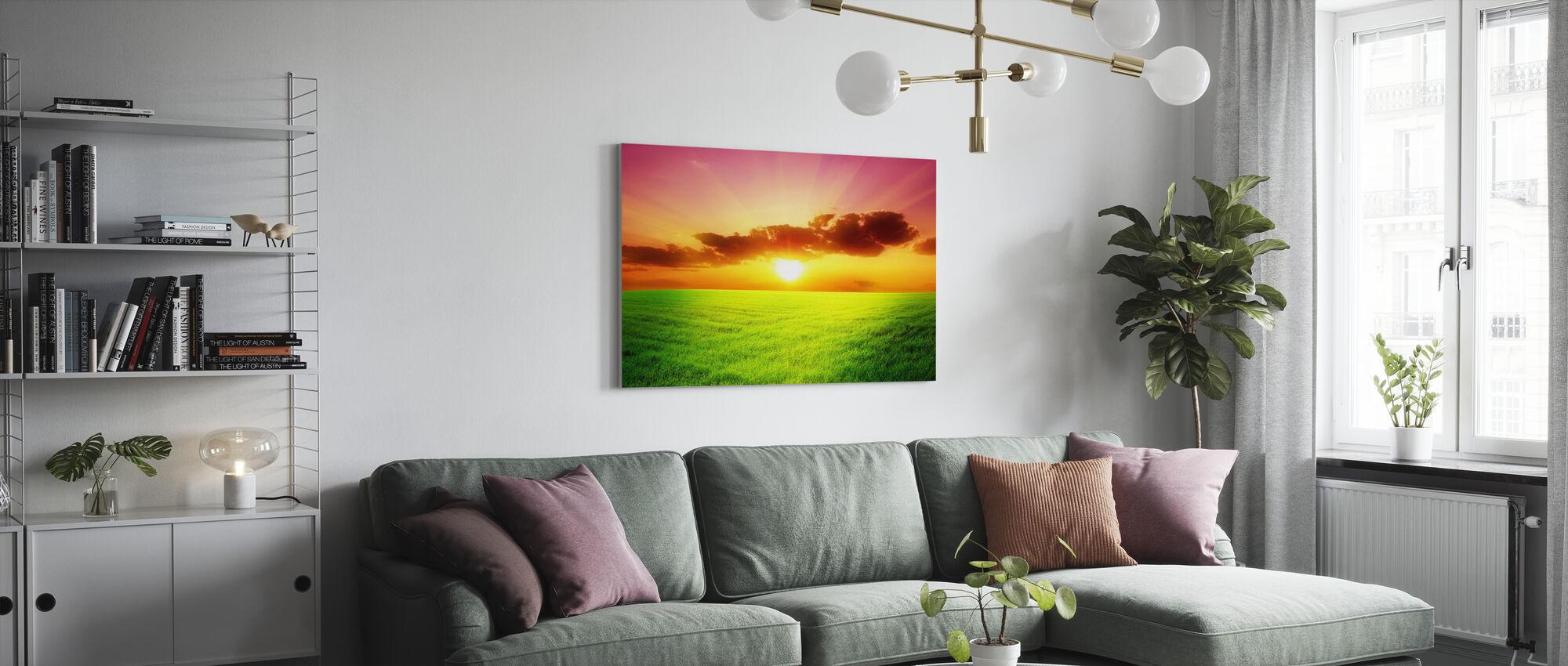 Green Field - Canvas print - Living Room
