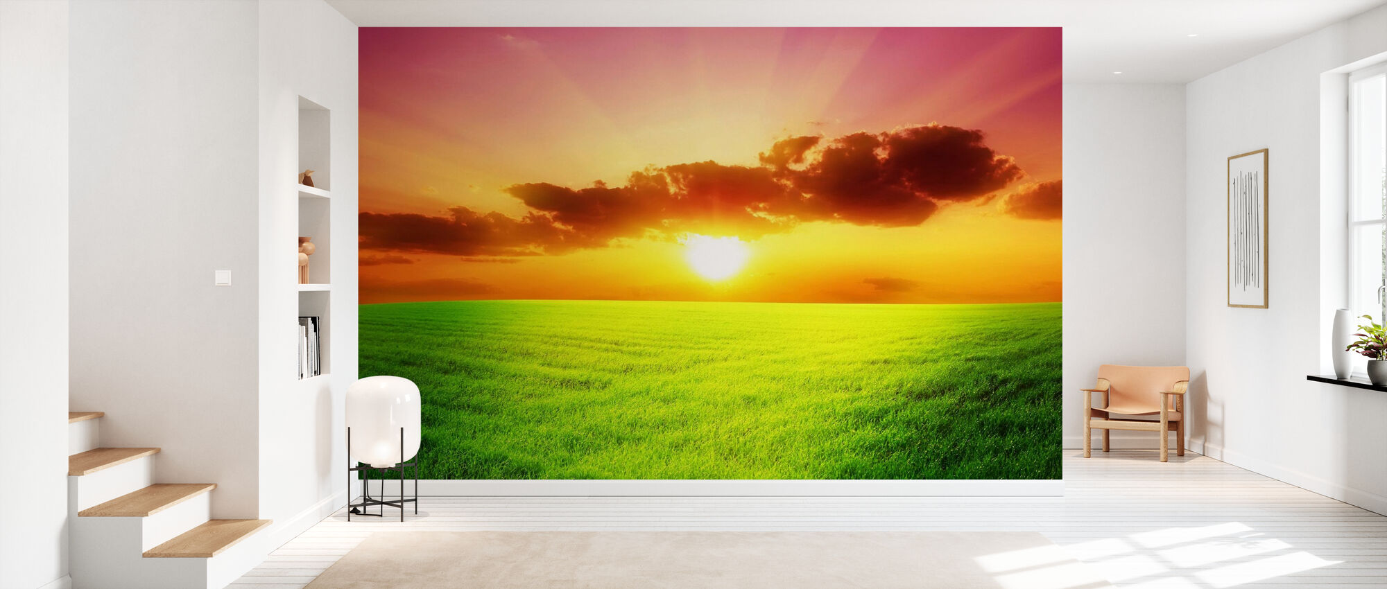 Green Field - Wallpaper - Hallway