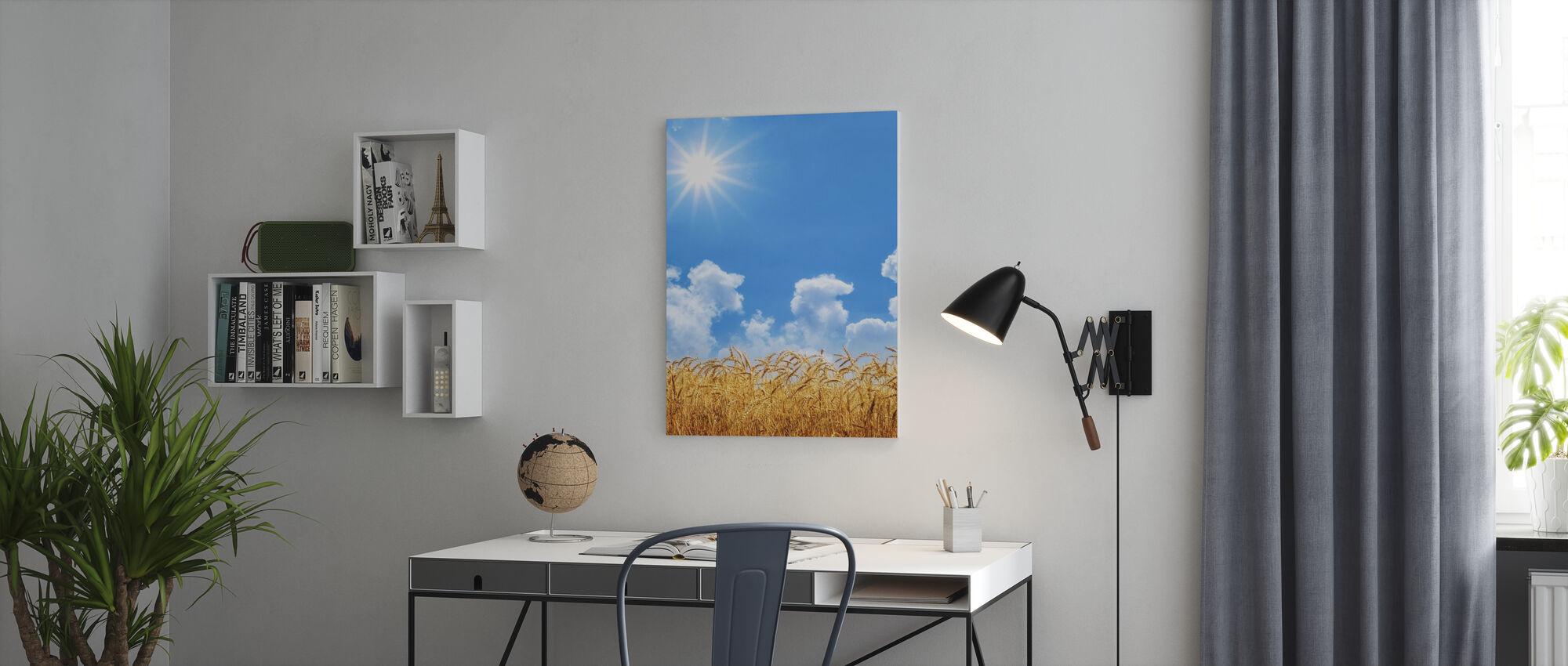 Goud Tarwe - Canvas print - Kantoor